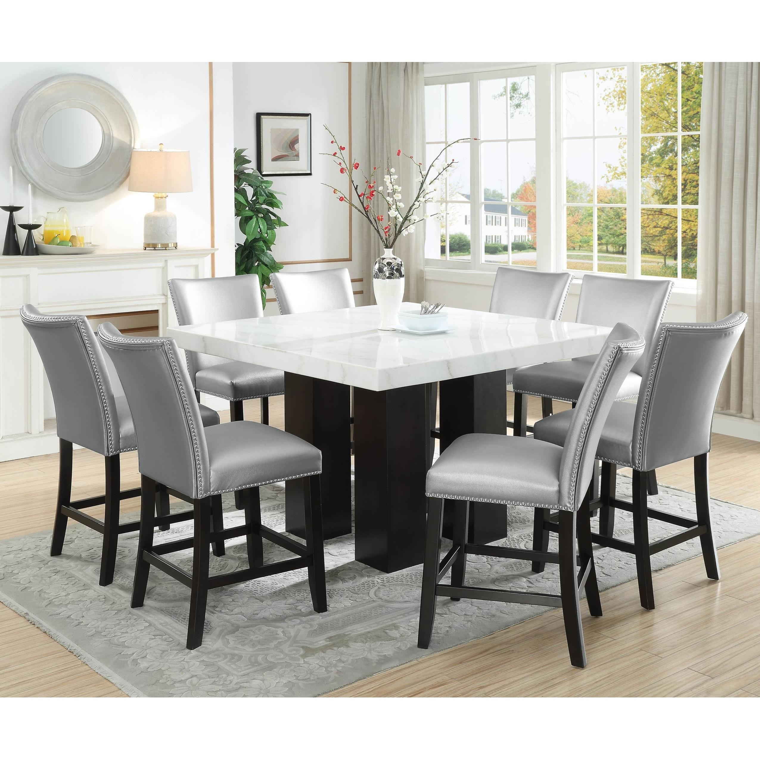 Camila 9 Piece Counter Height Dining Set by Steve Silver at Northeast Factory Direct