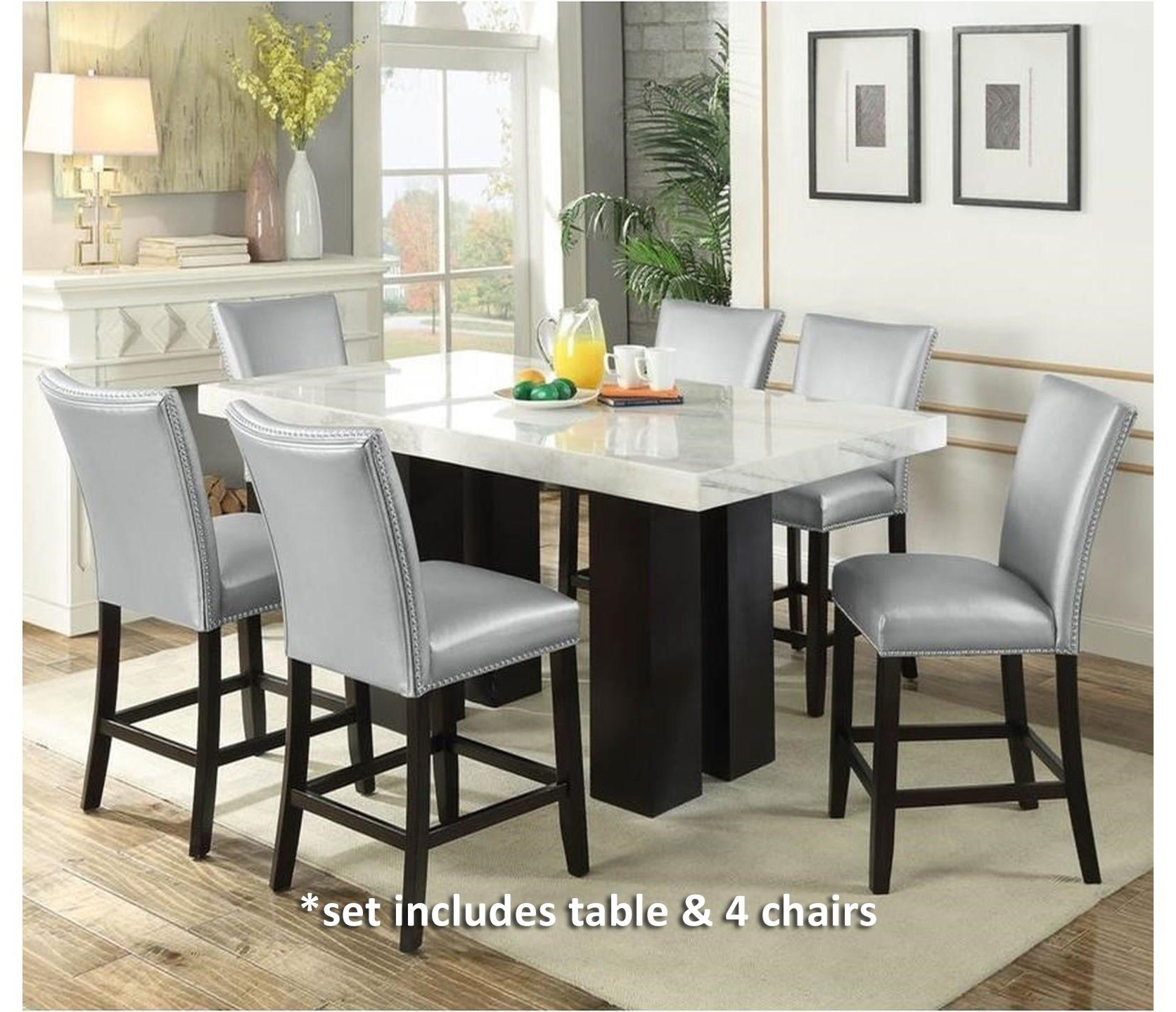 Camila 5 Piece Counter Height Dining Set at Ruby Gordon Home