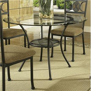 Single Pedestal Round Glass Top Dining Table