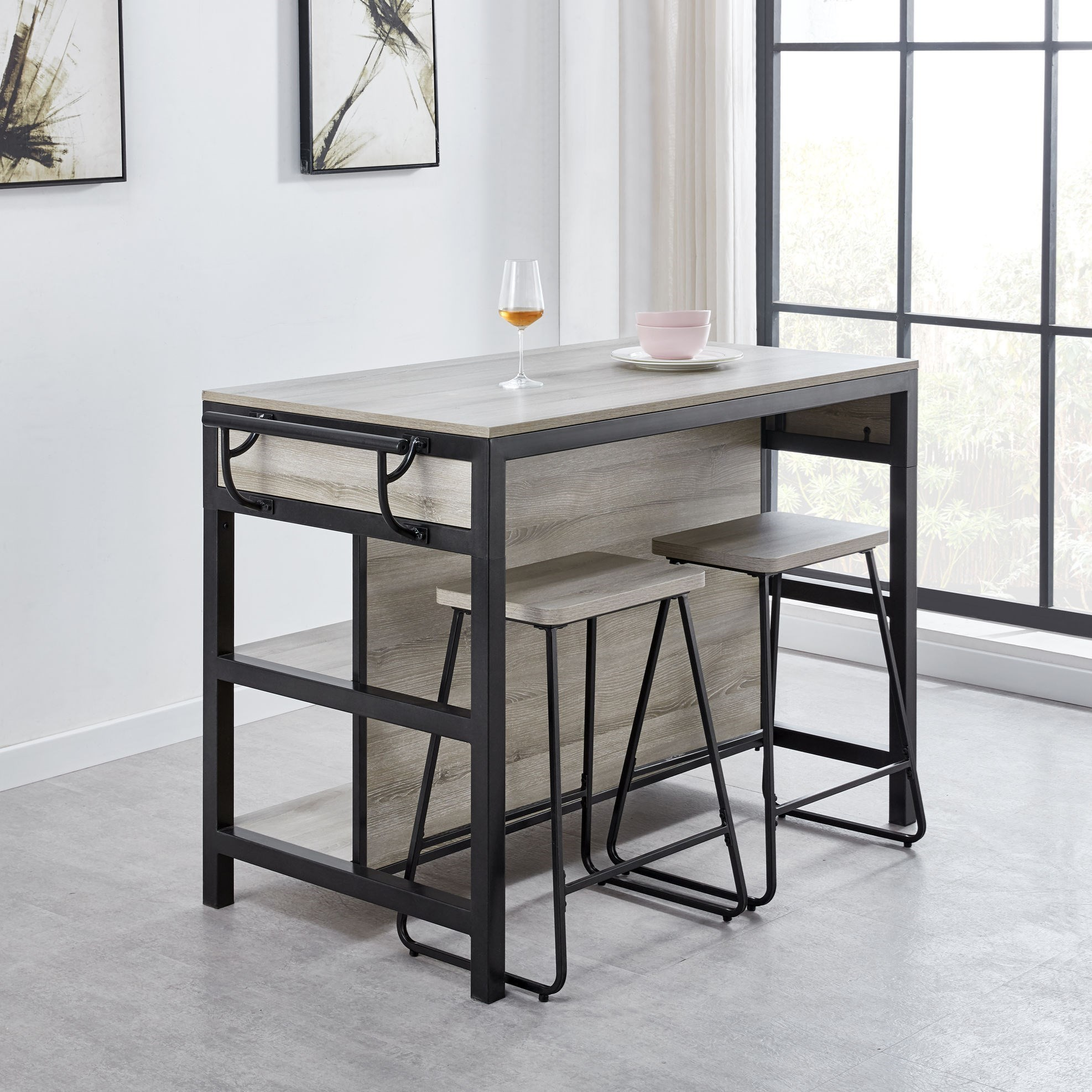 Carson 3-Piece Table and Chair Set by Steve Silver at Walker's Furniture