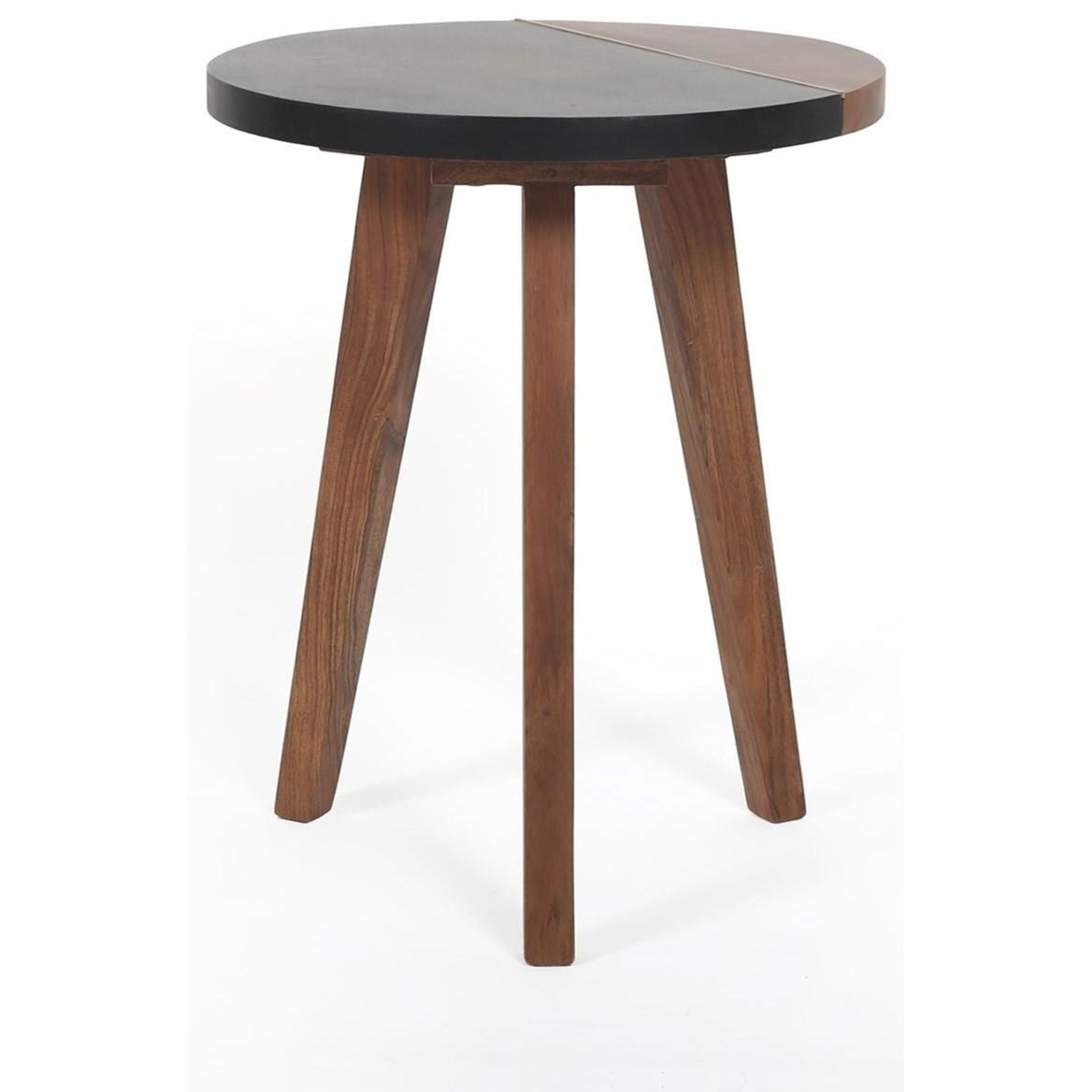 Caspian Round Accent End Table by Steve Silver at Walker's Furniture