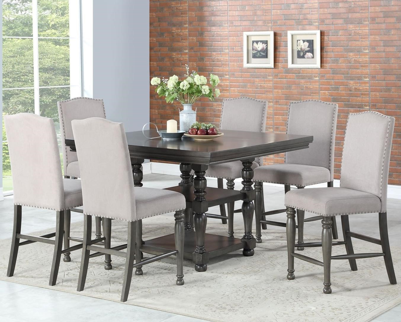 Caswell 7 Pc Counter Dining Set by Steve Silver at Walker's Furniture