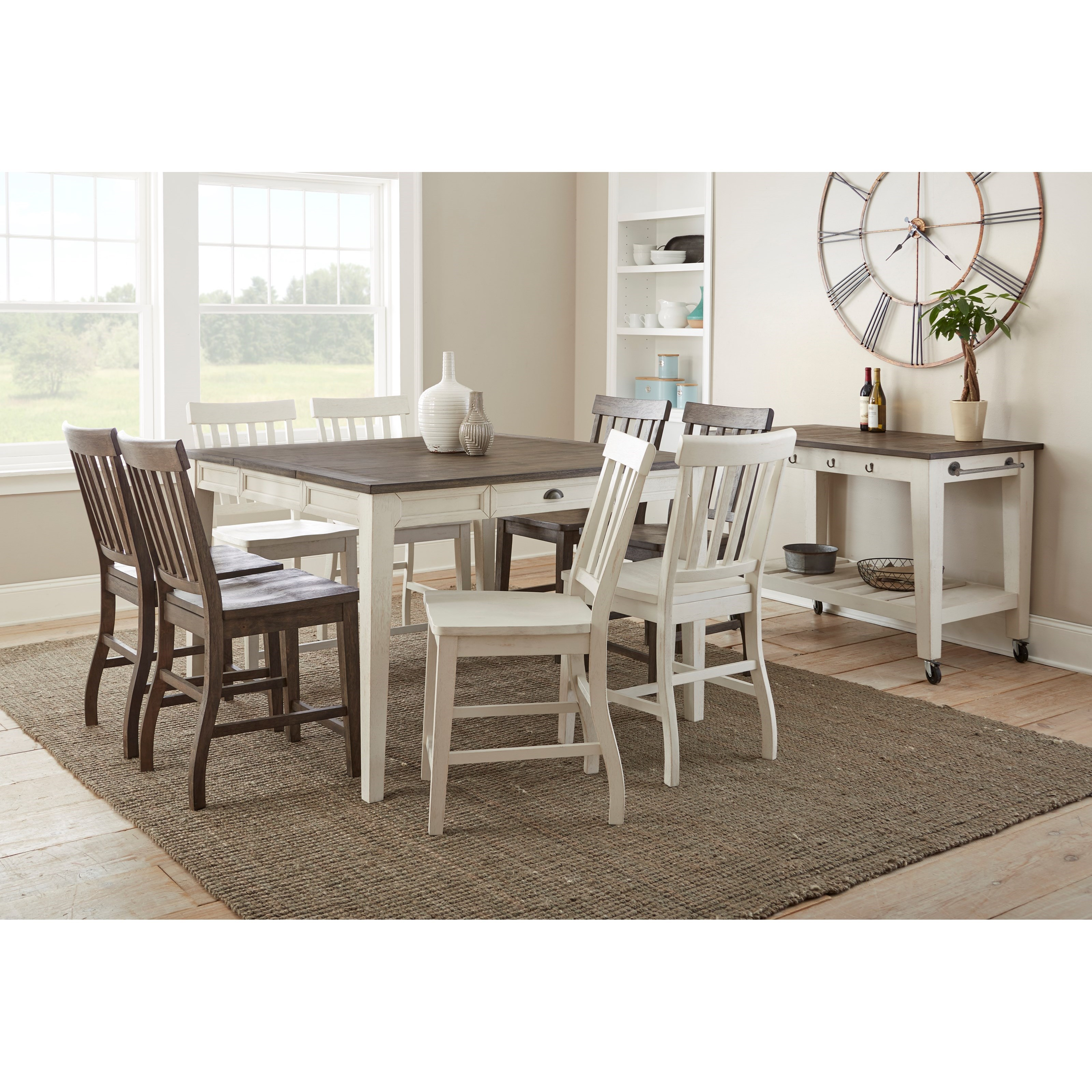 Cayla Casual Dining Room Group by Steve Silver at Northeast Factory Direct
