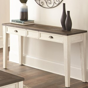 Farmhouse Sofa Table with Two-Tone Finish