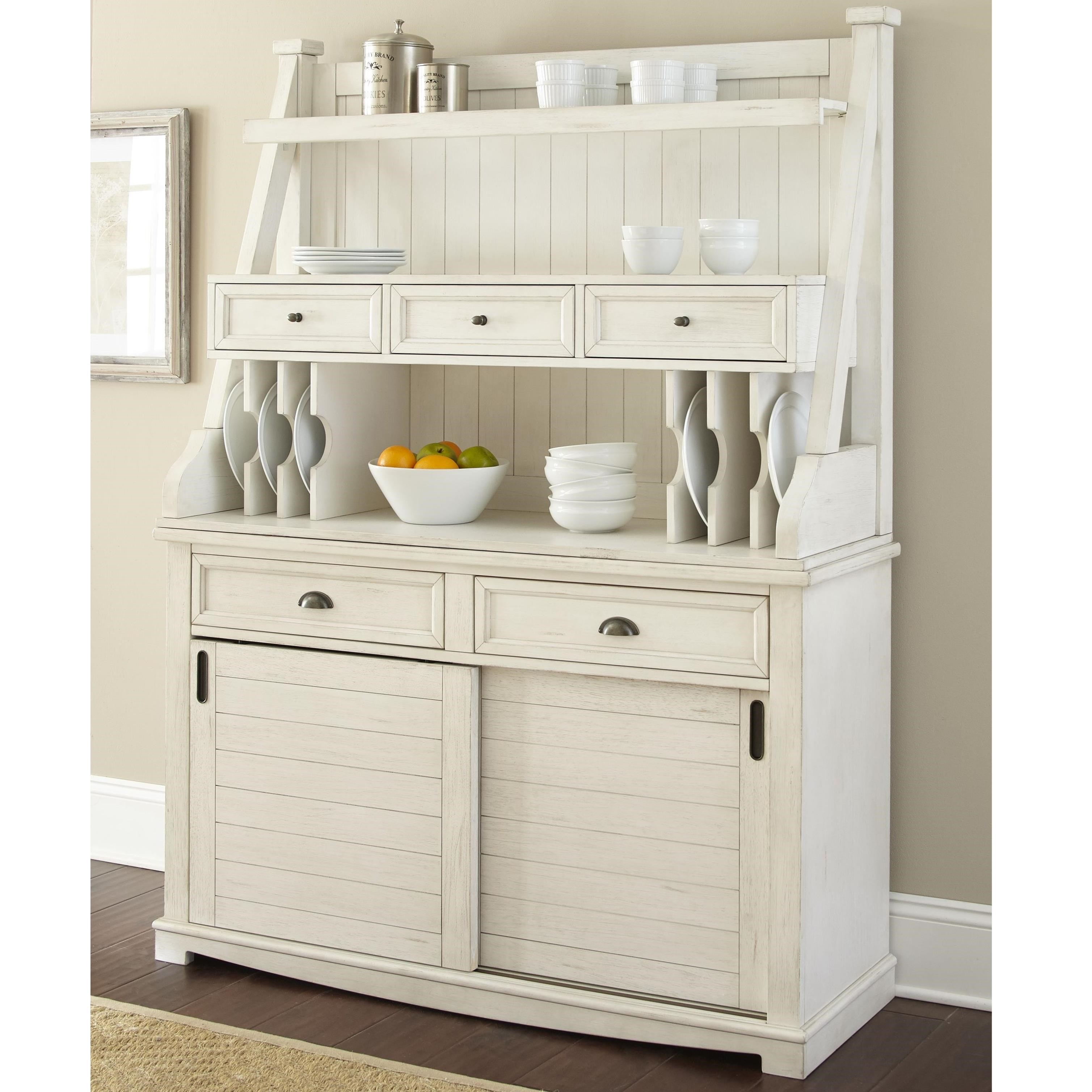 Cayla Buffet with Open Hutch by Steve Silver at Walker's Furniture