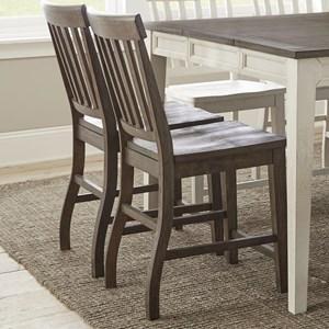 Slatback Farmhouse Counter Height Side Chair