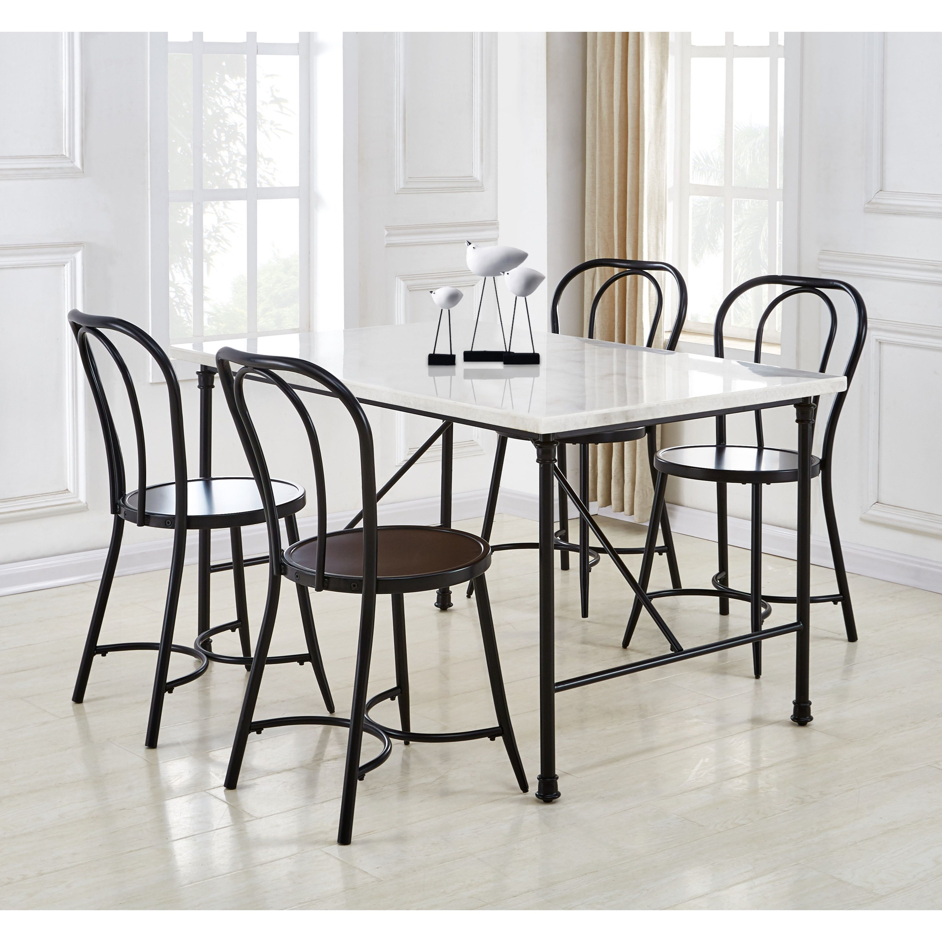 Claire 5-Piece Table and Chair Set by Steve Silver at Walker's Furniture