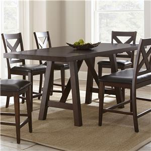 Counter Trestle Table with Two Leaves