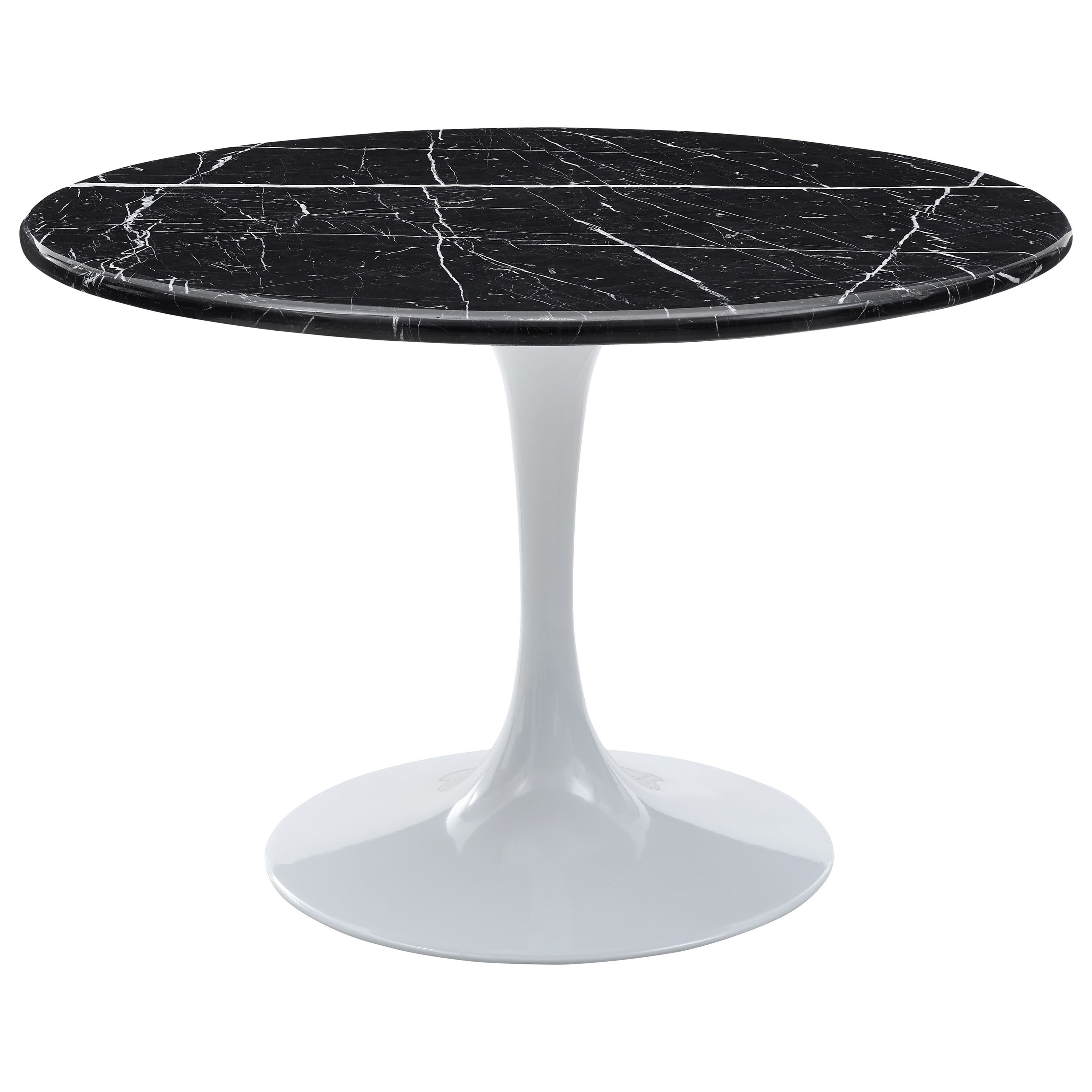 Colfax Table - Black Top & White Base by Steve Silver at Walker's Furniture