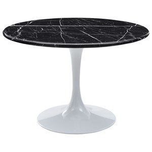 Table - Black Top & White Base