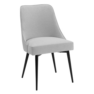 Mid Century Modern Upholstered Side Chair with Metal Legs