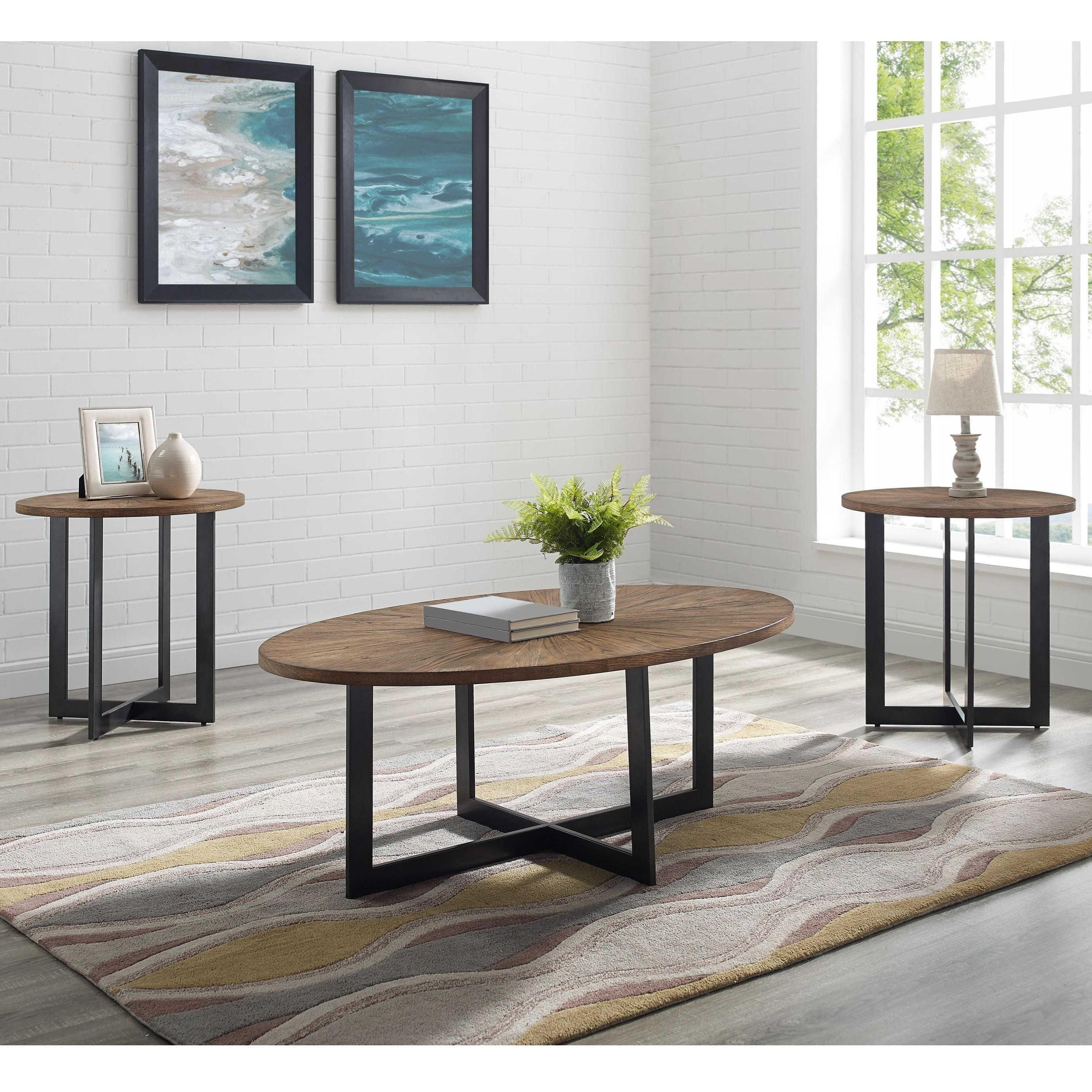 Colton Living Room Table 3 Pc Set by Steve Silver at Walker's Furniture