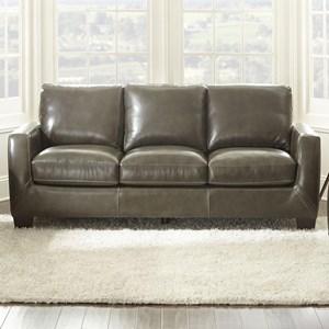 Contemporary Leather Match Sofa