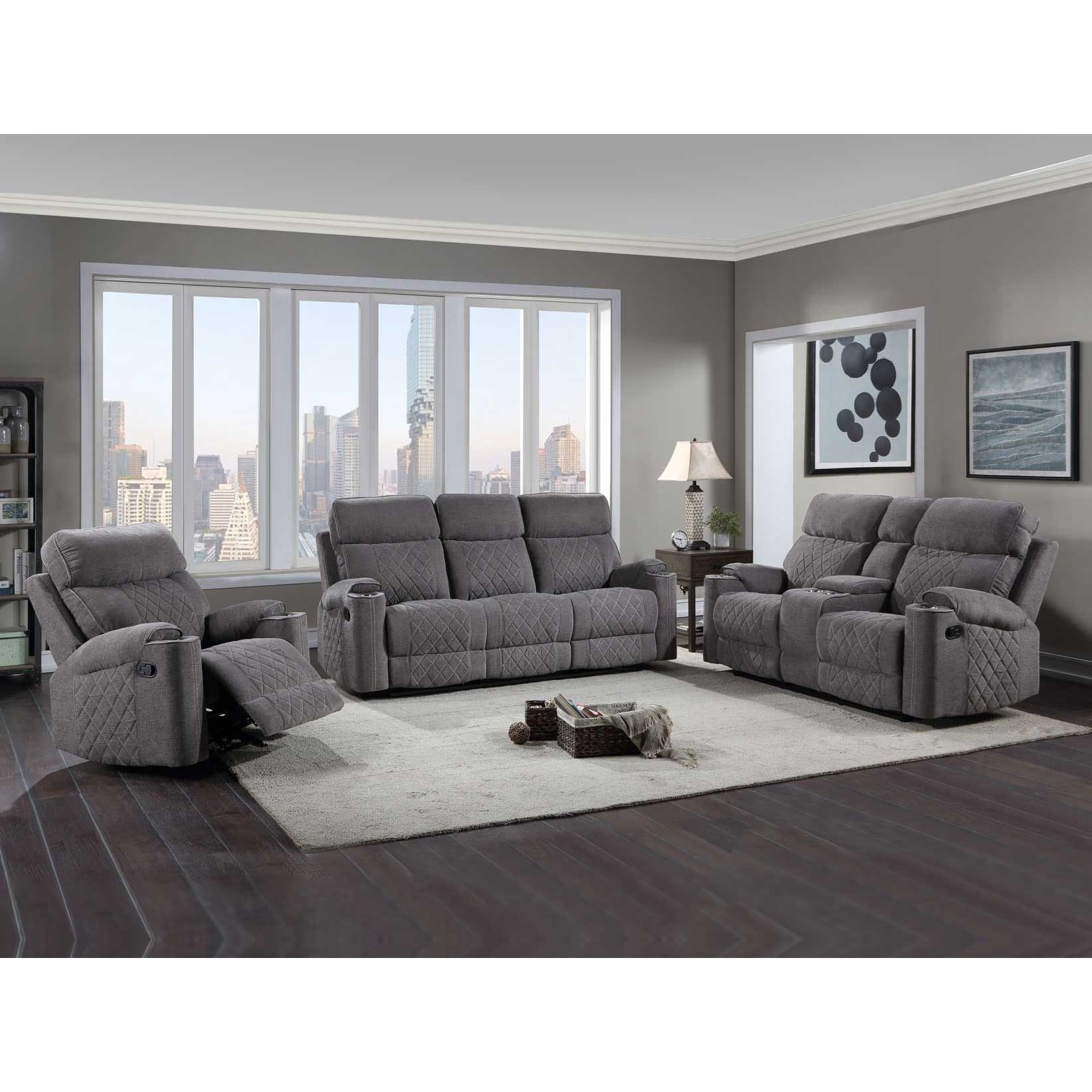 Crawford Reclining Living Room Group at Sadler's Home Furnishings