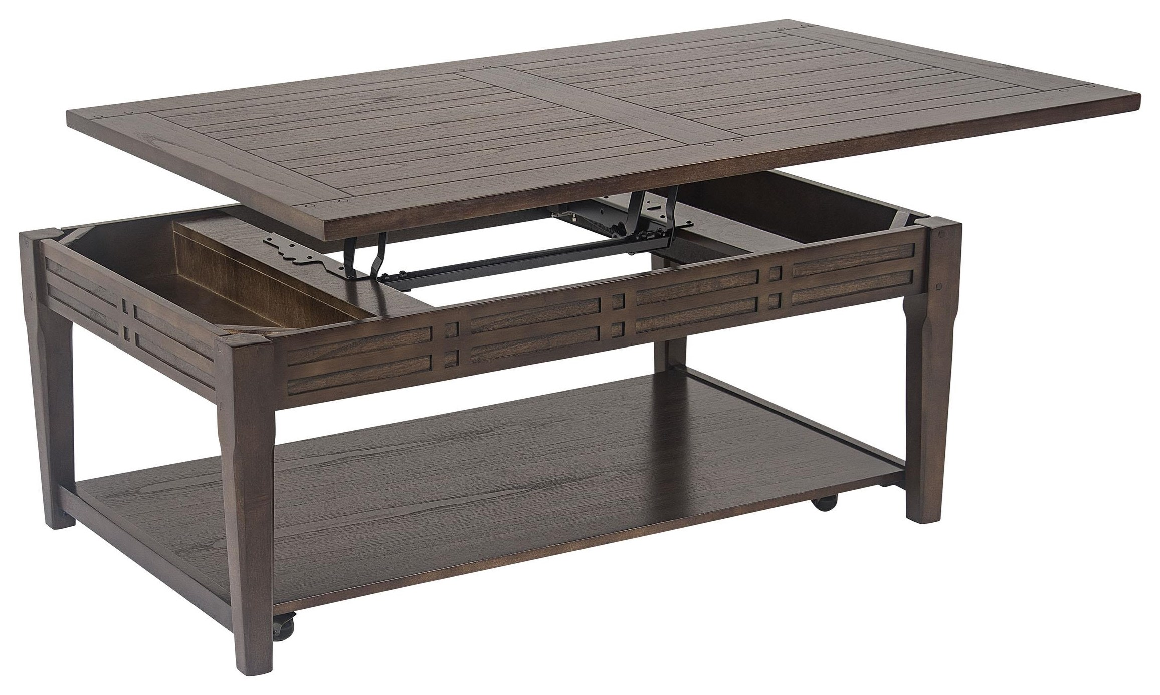 Lift Top Cocktail Table with Casters at Sadler's Home Furnishings