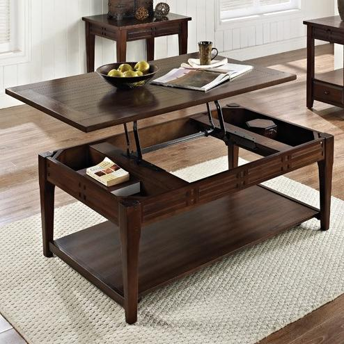 Crestline Lift Top Cocktail Table with Casters by Steve Silver at Walker's Furniture