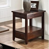 Crestline Chairside End Table by Steve Silver at Smart Buy Furniture