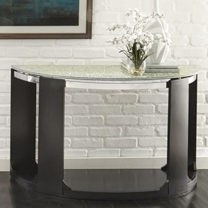 Contemporary Crackled Glass Sofa Table
