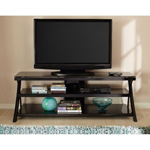 Two Shelf Glass Top Television Stand