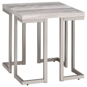 Contemporary End Table with Scratch Resistant Silvershield® 3D PVC Laminate Top