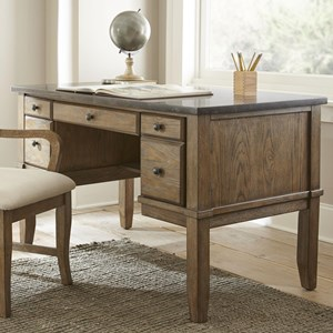 Writing Desk with Bluestone Top and Keyboard Drawer