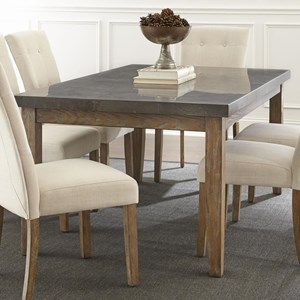 Transitional Rectangular Dining Table with Bluestone Top