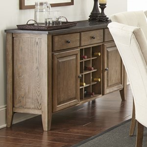Transitional Server with Wine Bottle Storage