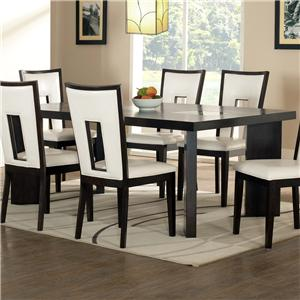 Contemporary Dining Table with Cracked Glass Insert