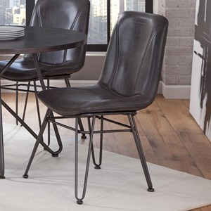 Industrial Upholstered Side Chair