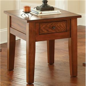 End Table with Drawer and Tapered Legs