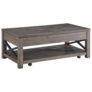 Rustic Lift-Top Cocktail Table