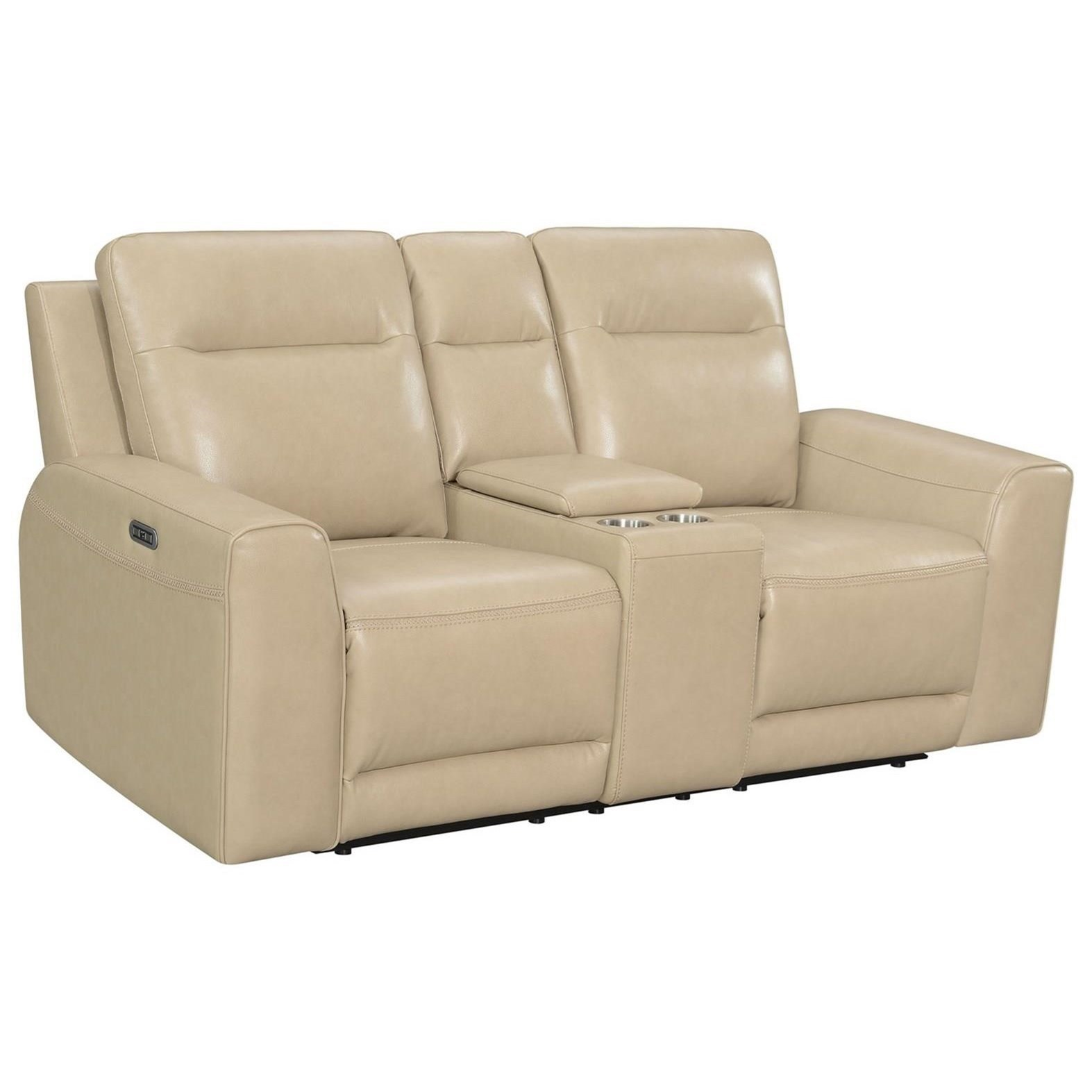 Doncella Dual-Power Console Loveseat by Steve Silver at Standard Furniture