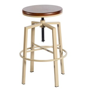 Contemporary Backless Adjustable Barstool