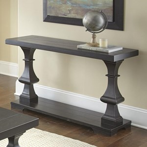 Sofa Table with Plank Effect Top