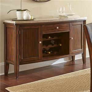 Sideboard with Marble Top and Wine Shelf Storage