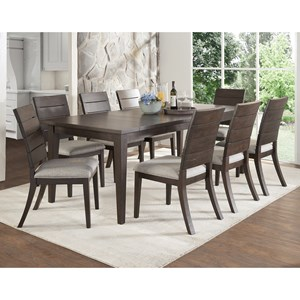 Contemporary 9 Piece Table and Chair Set