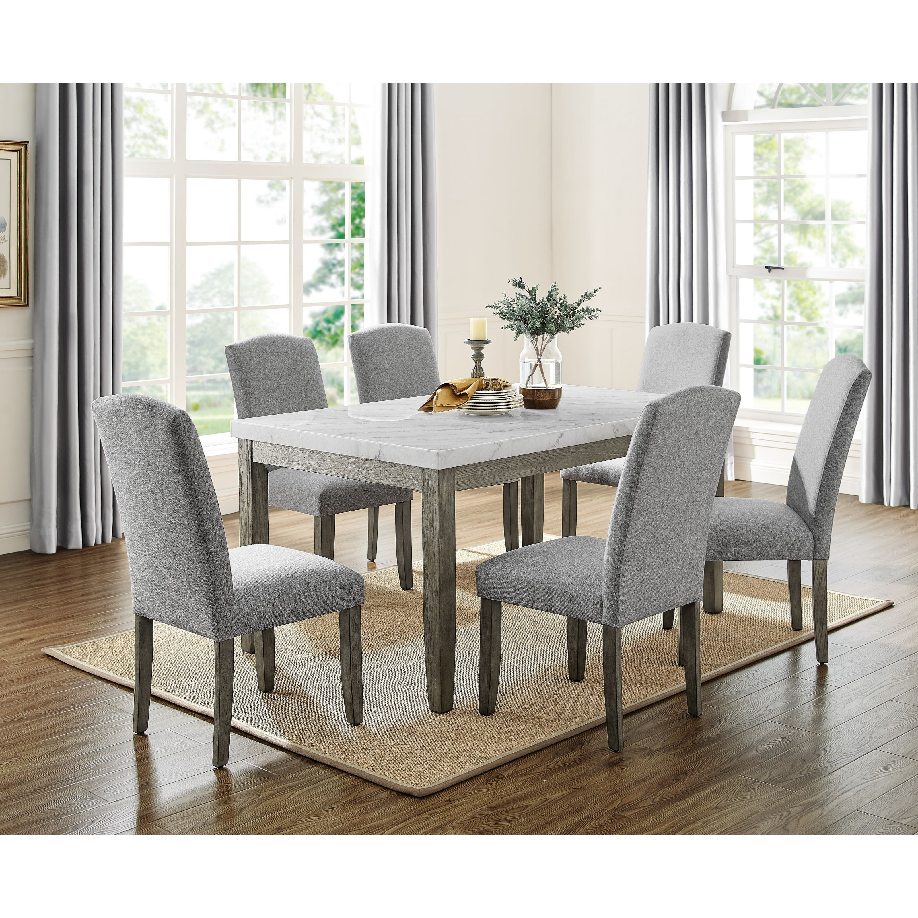 Emily 7-Piece Table and Chair Set by Steve Silver at Northeast Factory Direct
