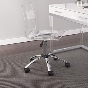 Adjustable Height Acrylic Swivel Chair with Casters