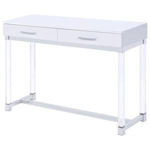 2 Drawer Sofa Table with Acrylic Legs