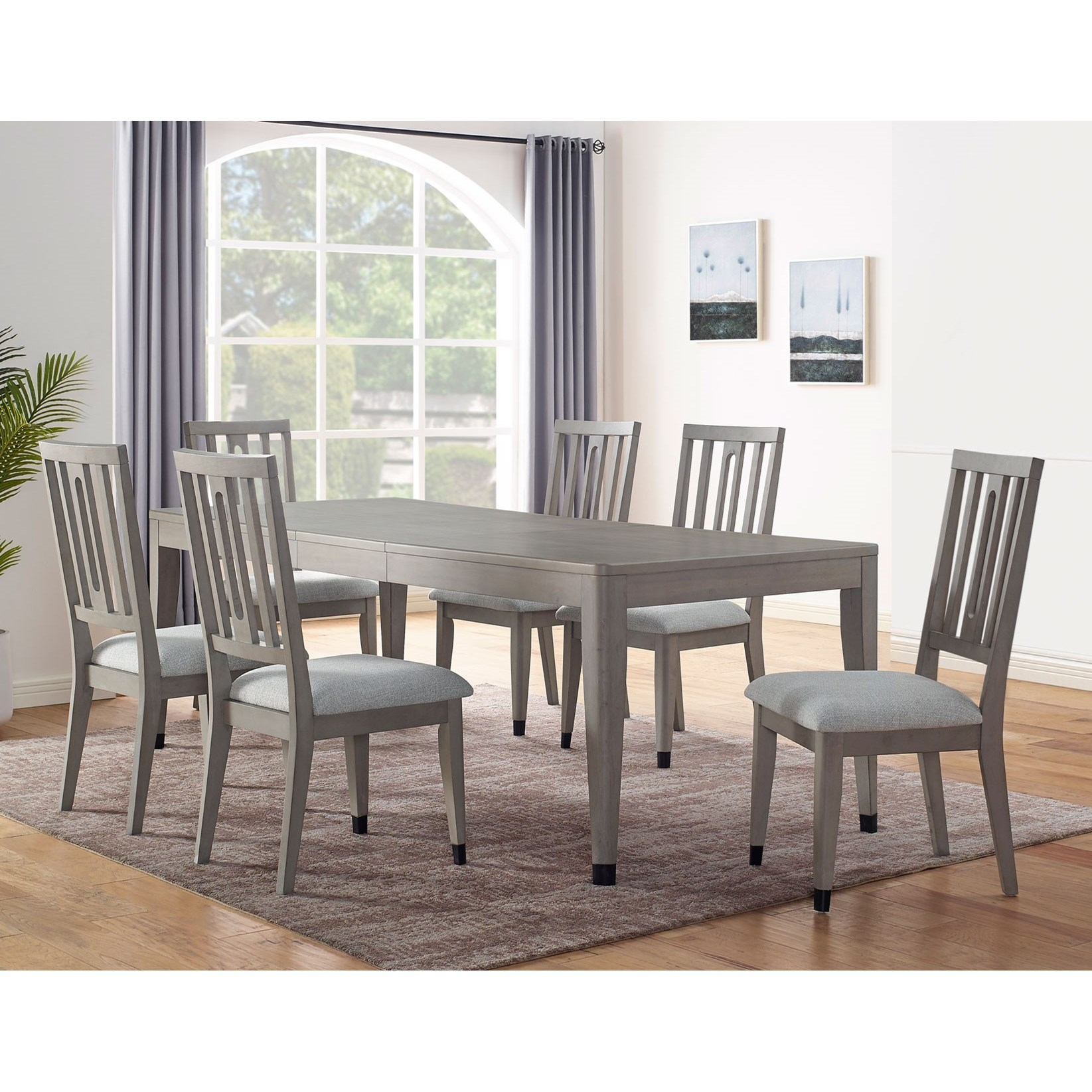 Fordham 7-Piece Dining Table Set by Steve Silver at Walker's Furniture
