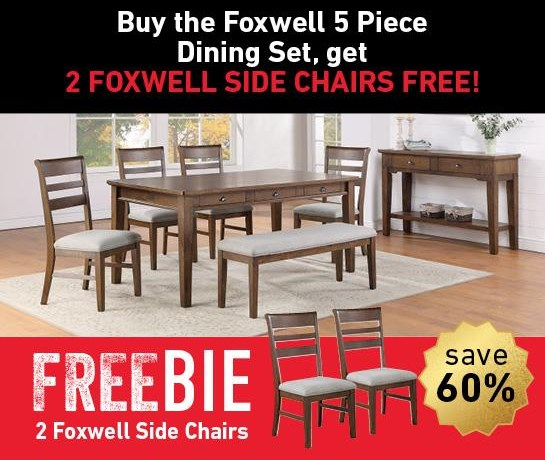 Foxwell Foxwell Dining Set with Freebie! by Steve Silver at Morris Home