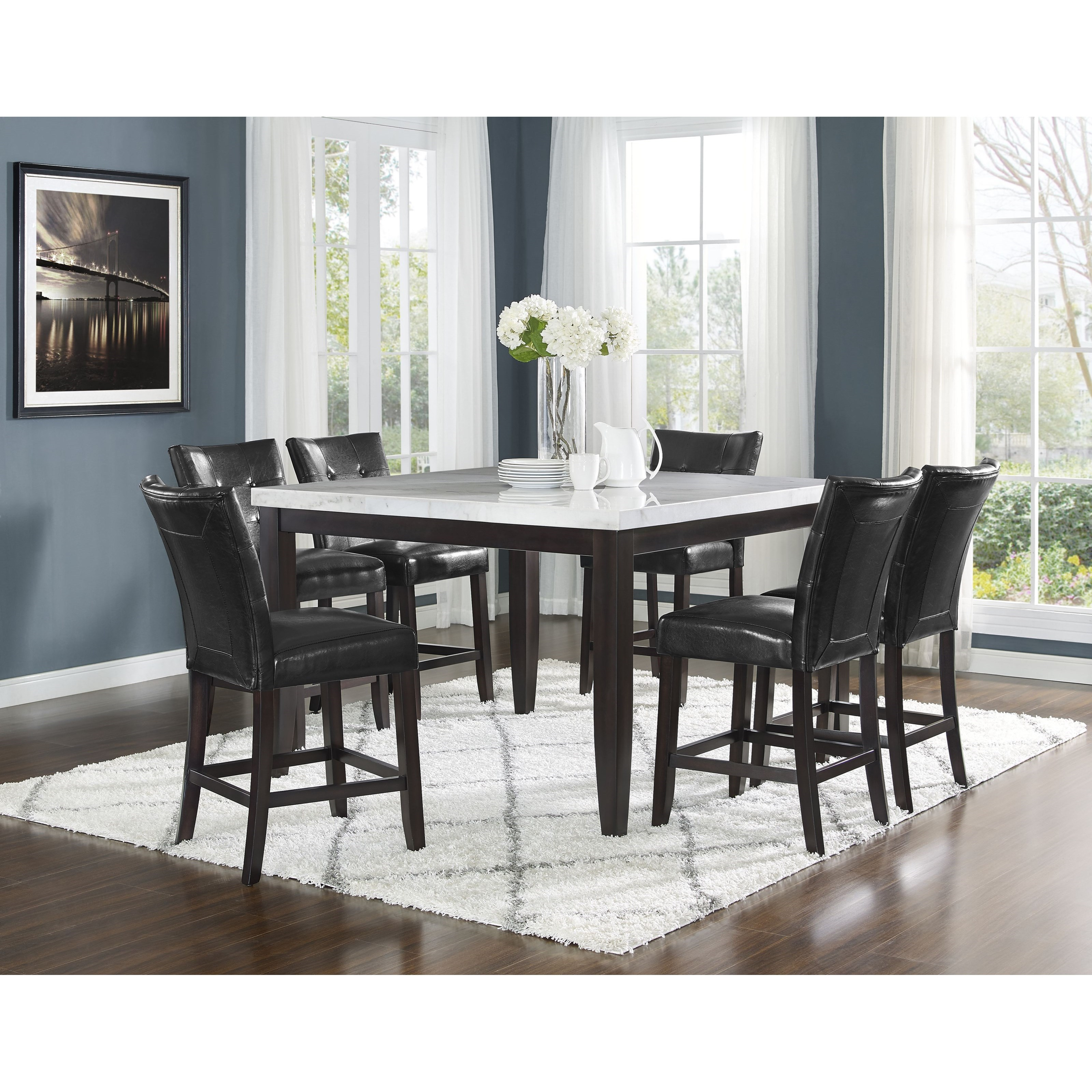 Francis 7 Piece Table and Chair Set by Steve Silver at Sam Levitz Furniture