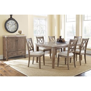 Formal Marble Dining Room Group