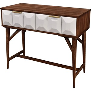 Mid-Century Modern Console Table with 2 Drawers