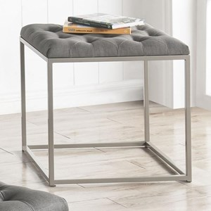Tufted Faux Leather Upholstered End Table