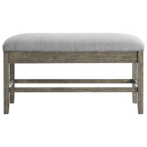 Transitional Counter Height Storage Bench