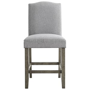Transitional Upholstered Counter Height Chair with