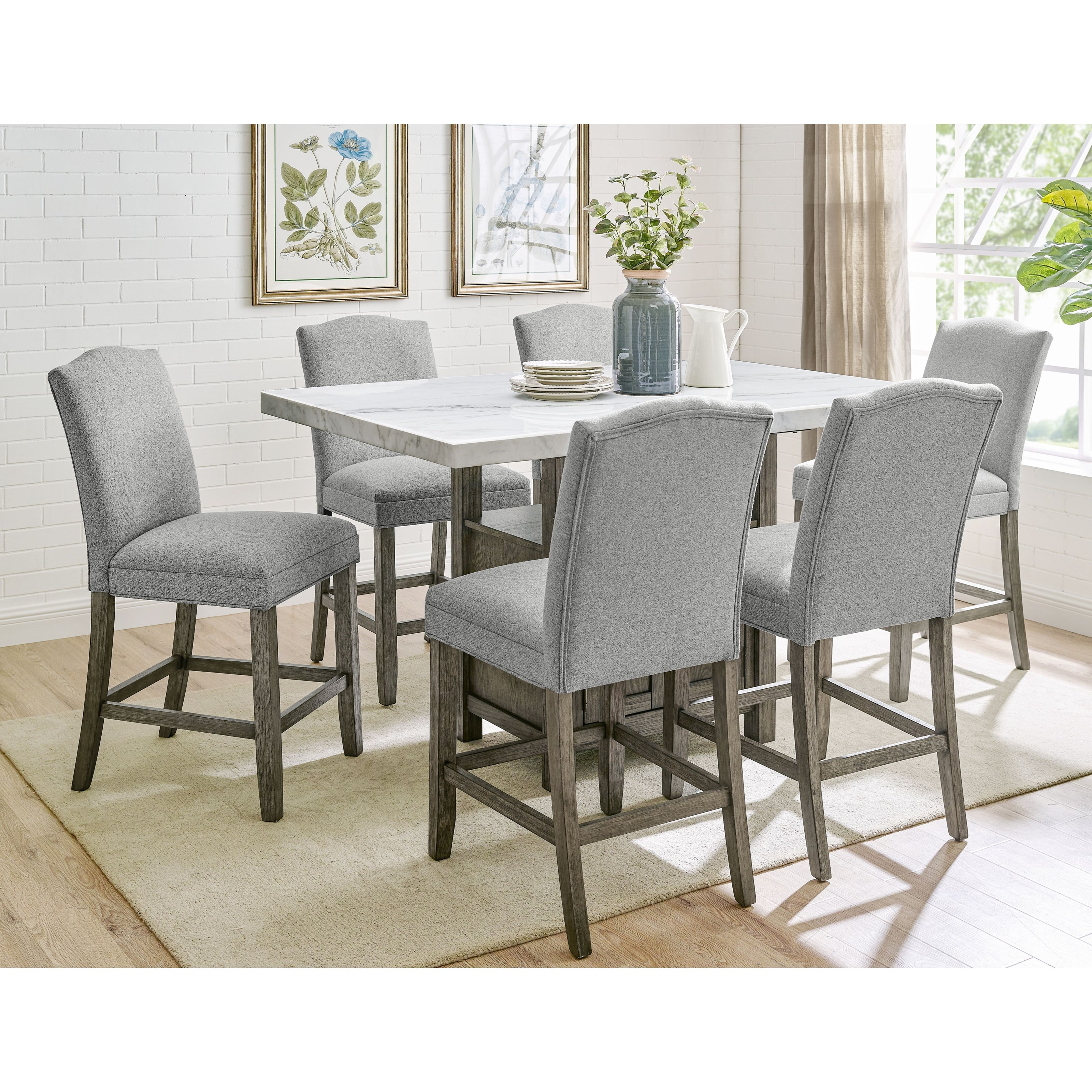 Grayson 7-Piece Counter Height Dining Set by Steve Silver at Walker's Furniture