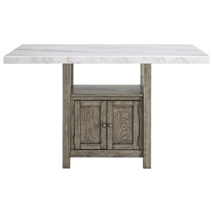 Transitional Counter Height Table with Under Table Storage