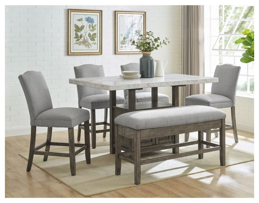 Grayson 5 Piece Counter Height Dining Set by Steve Silver at Darvin Furniture